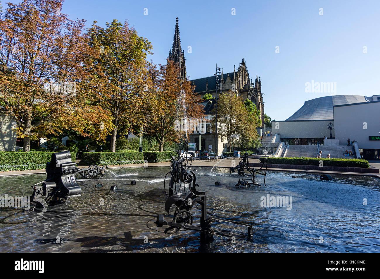 Tinguely Brunnen, Basel, Schweiz Stockbild