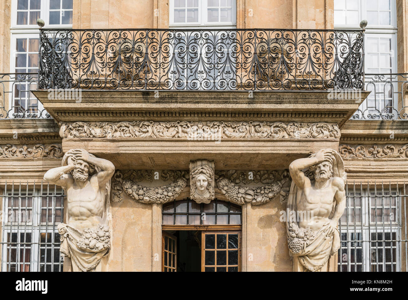 Fassade des Pavillon Vendome, Aix-En-Provence, Frankreich Stockbild
