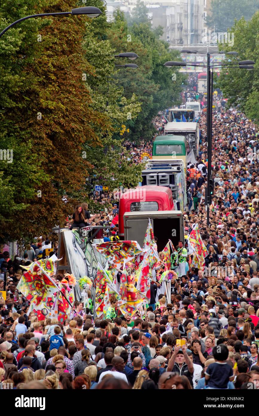 Notting Hill Carnival, London, England Stockbild
