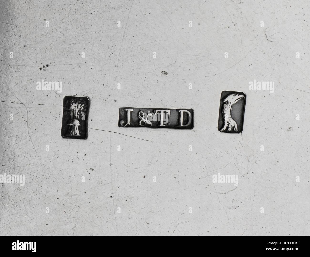 Cruet stand met dp 216649 cruet stand met dp 216649 / 2747 Teekocher: Joseph Dubois, 1767?, 1798, Hersteller: teunis Stockbild