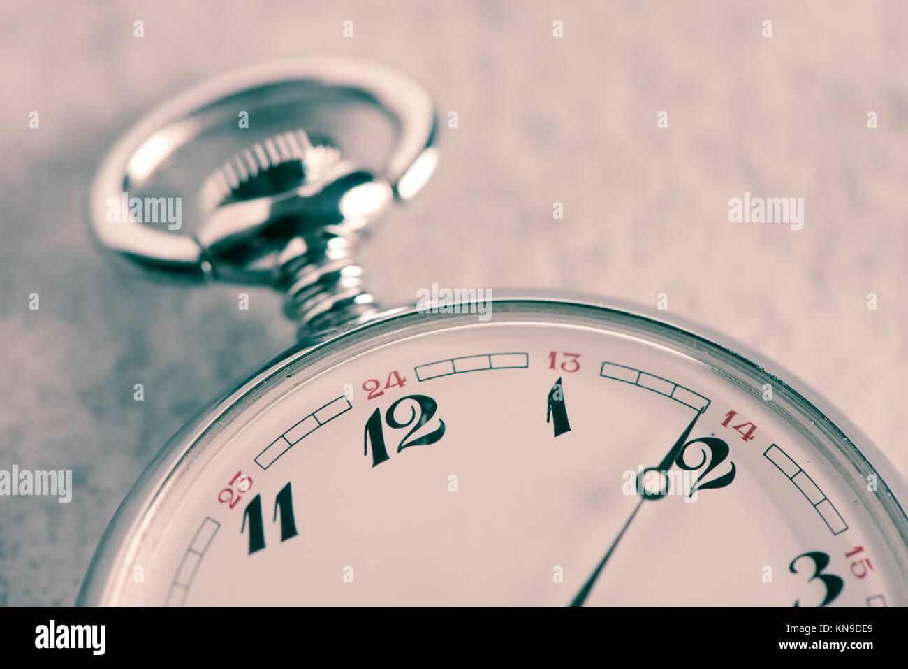 Alte Taschenuhr detail. Symbol der Zeit-, Termin- und Nostalgie. Stockbild