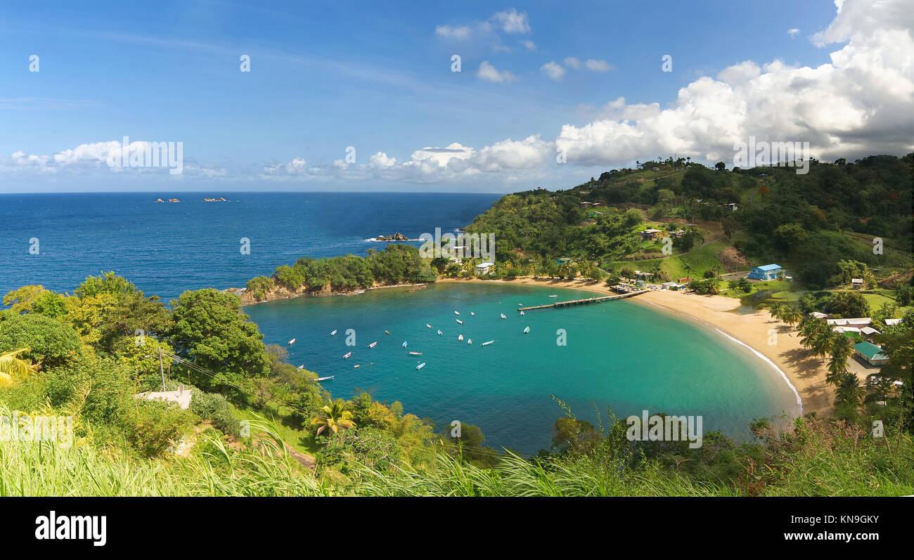 Parlatuvier bay Karibik - Karibik - Antillen - Tobago Stockbild