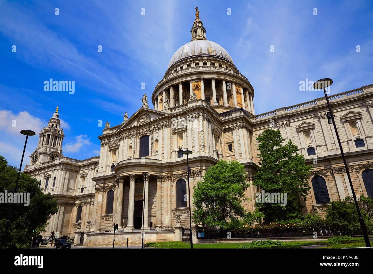 London St Paul Pauls Kathedrale Fassade in England. Stockfoto