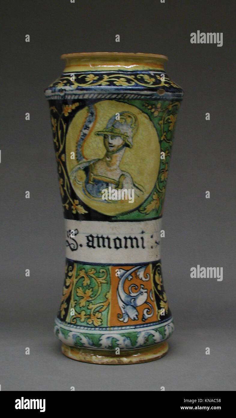 Albarello met LC-02 5 19-001 188537 Teekocher: Workshop von lazzaro Workshop, albarello, zweite Hälfte des Stockbild