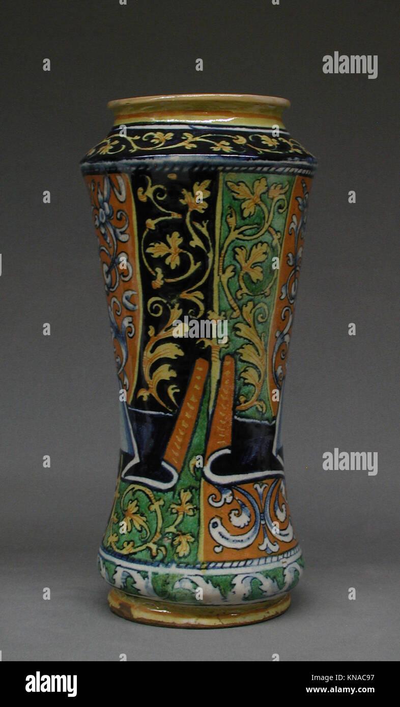 Albarello met LC-02 5 19-002 188537 Teekocher: Workshop von lazzaro Workshop, albarello, zweite Hälfte des Stockbild