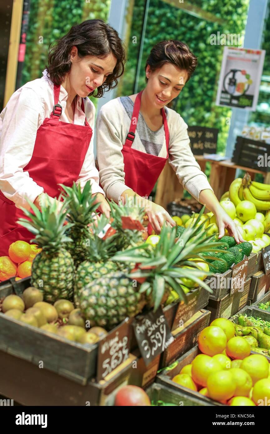 Health Food Store, Grün Supermarkt, Bioladen, Donostia, San Sebastian, Gipuzkoa, Baskenland, Spanien, Europa Stockbild