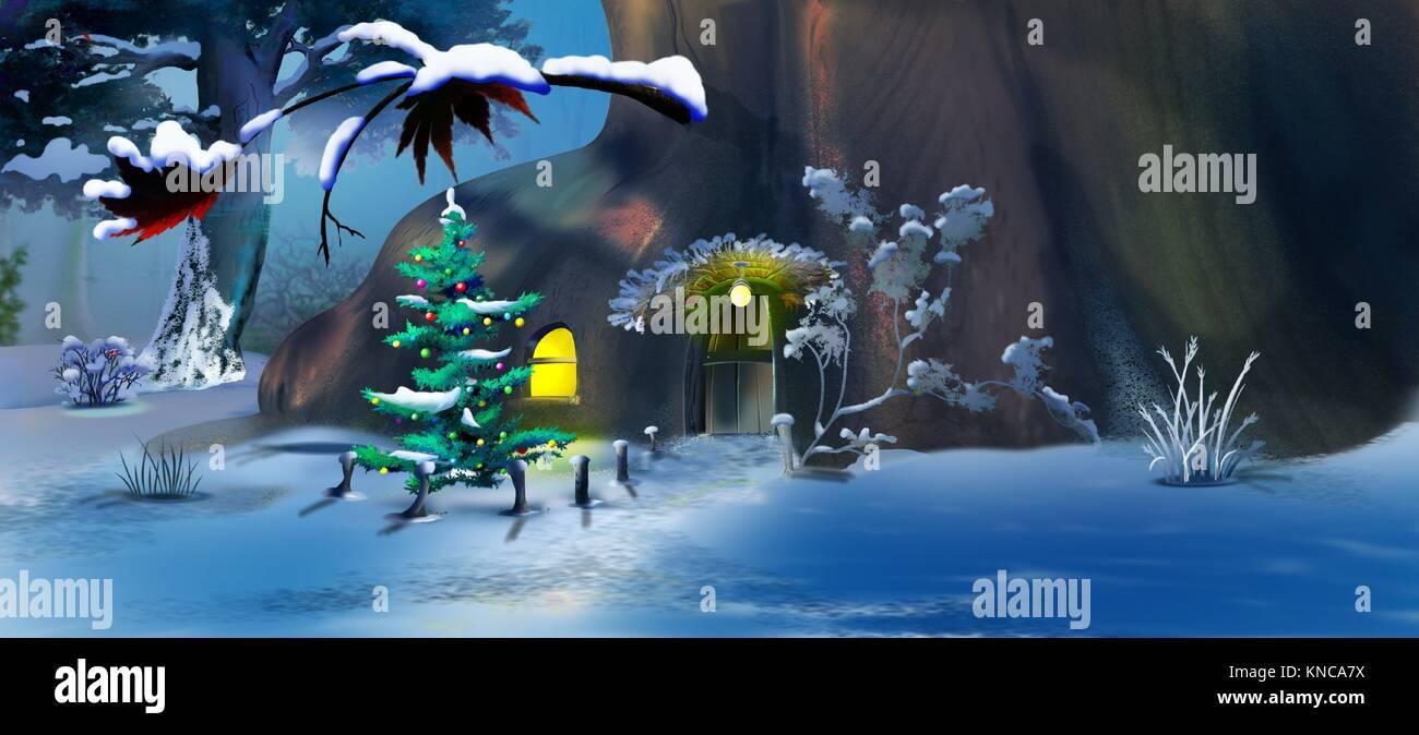 tannenwald im winter in der nacht stockfotos tannenwald. Black Bedroom Furniture Sets. Home Design Ideas