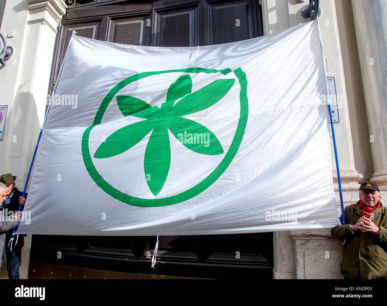 Protest Der Kampf Um Das Haus Gegen Die Kundgebung Der Lega Nord In