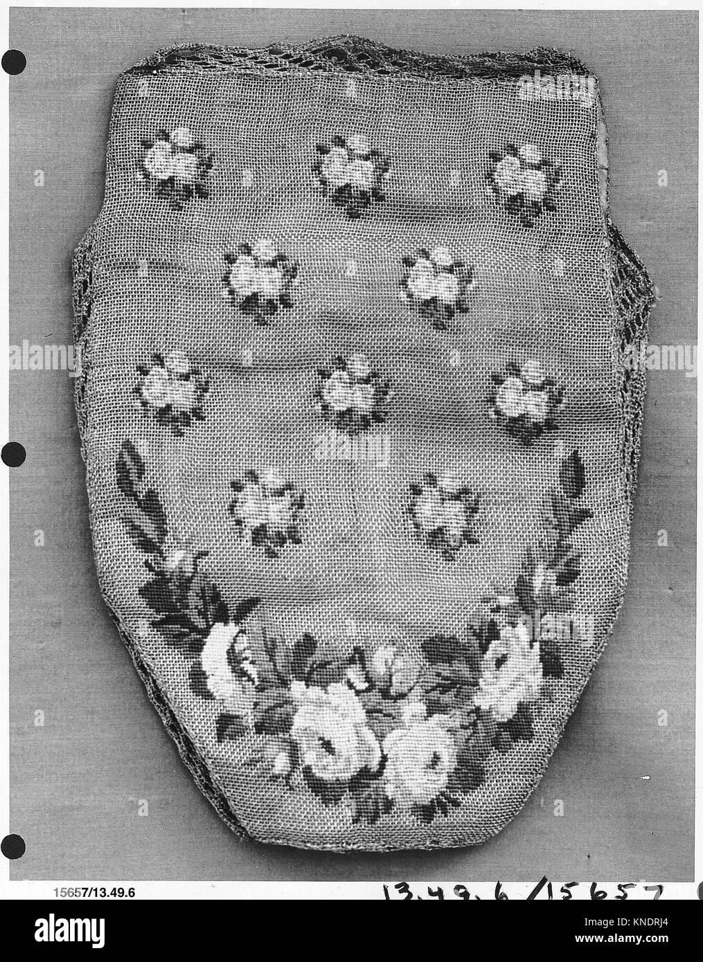 Fadenkreuz befindet. Datum: Ende des 18. Jahrhunderts; Kultur: Briten; Medium: Petit point Stickerei auf vergoldeter Stockbild