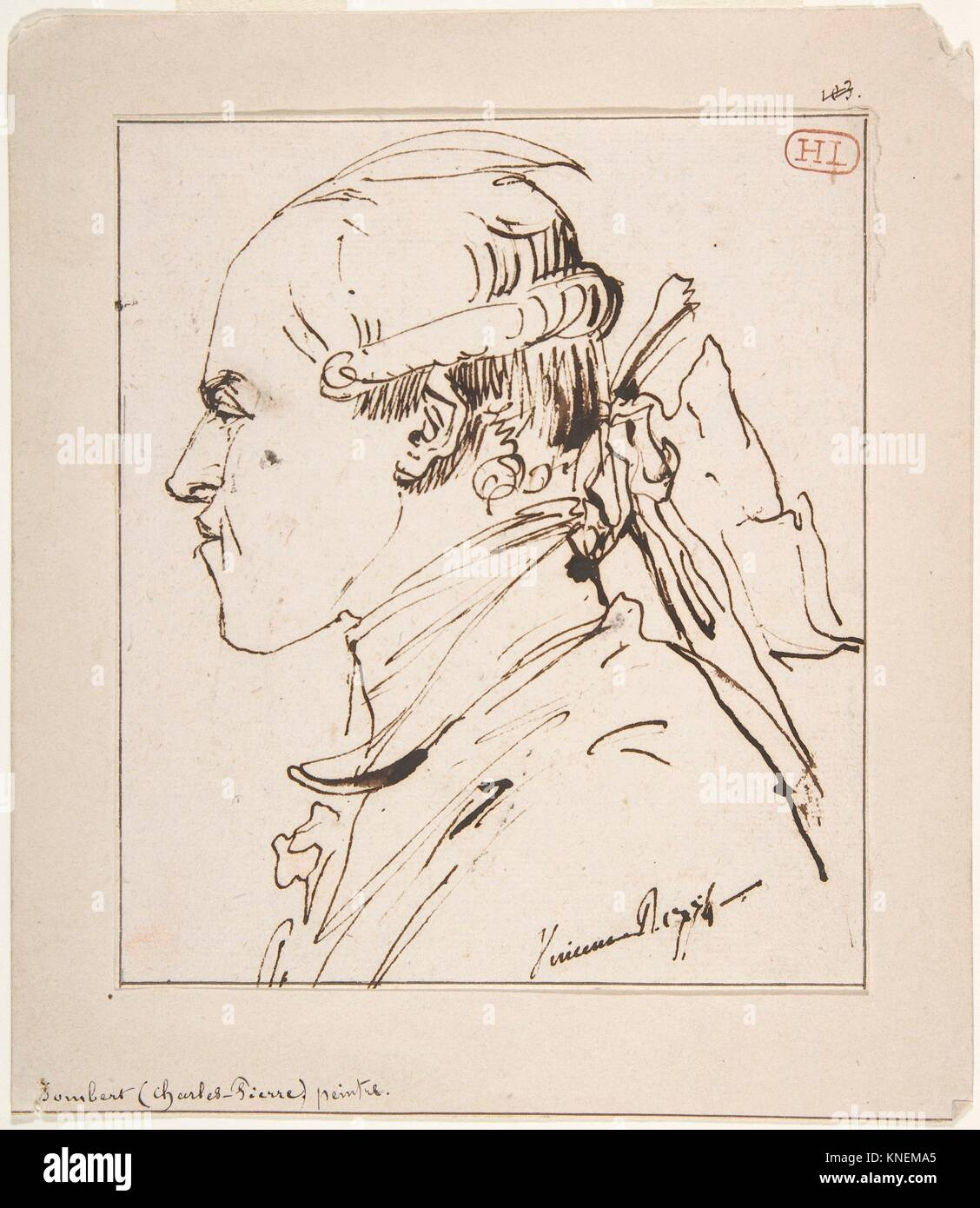 Pierre-Charles Jombert. Artist: François André Vincent (Französisch, Paris 1746-1816 Paris); Datum: Stockbild