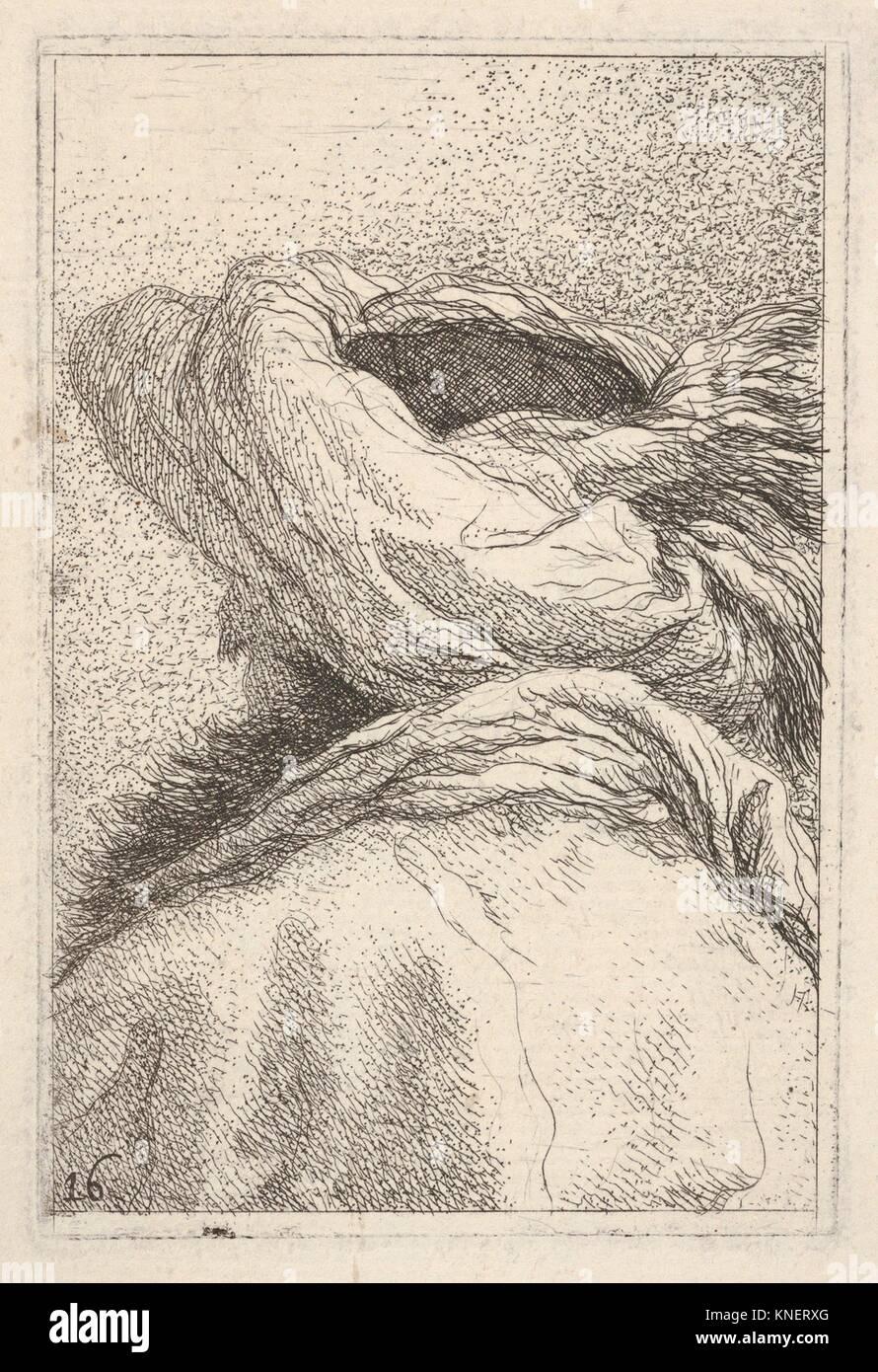"""Mann in einem Turban, in Büste Länge dargestellt von hinten in drei Viertel, aus der Serie """"Collection Stockbild"""