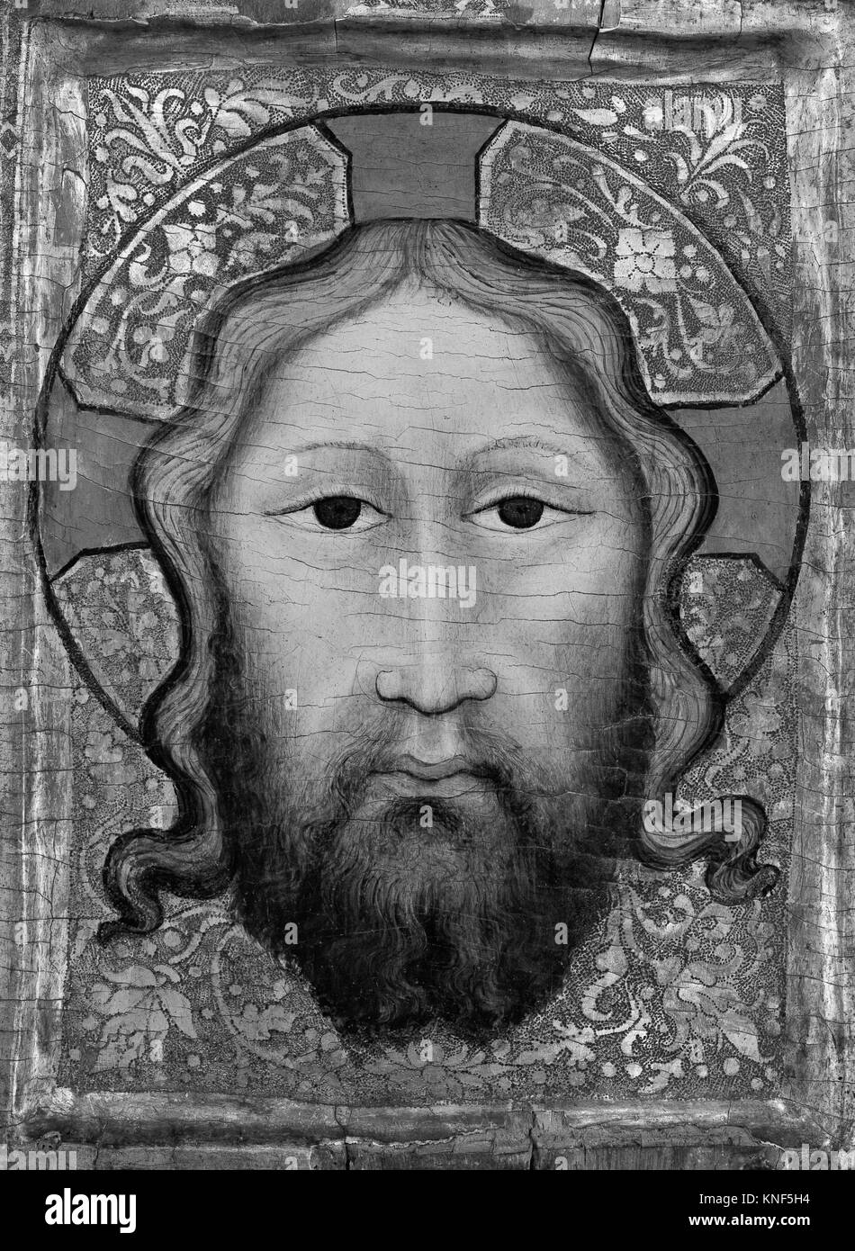 Kopf des Christus. Artist: Europäische Maler (vor 1500); Medium ...