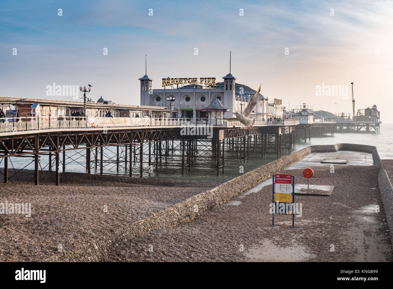 Brighton Pier, Sussex, England, UK. Stockbild