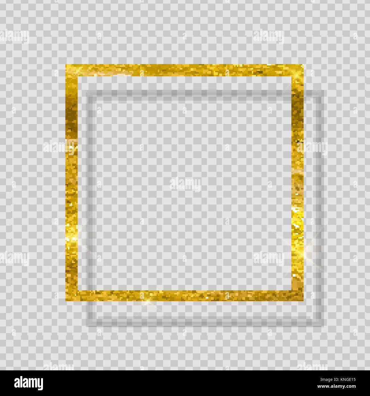 Gold Farbe glitzernden Strukturierten Rahmen auf Transparenten ...