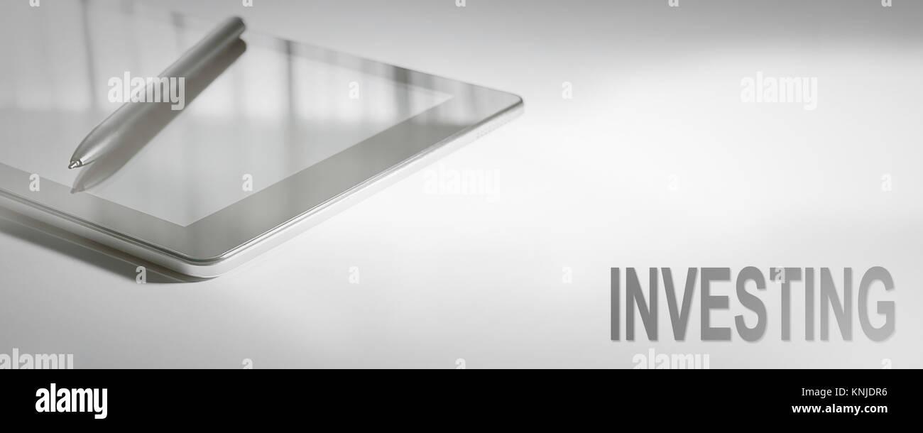 Die Investition ist das Konzept der digitalen Technologie. Grafisches Konzept. Stockfoto