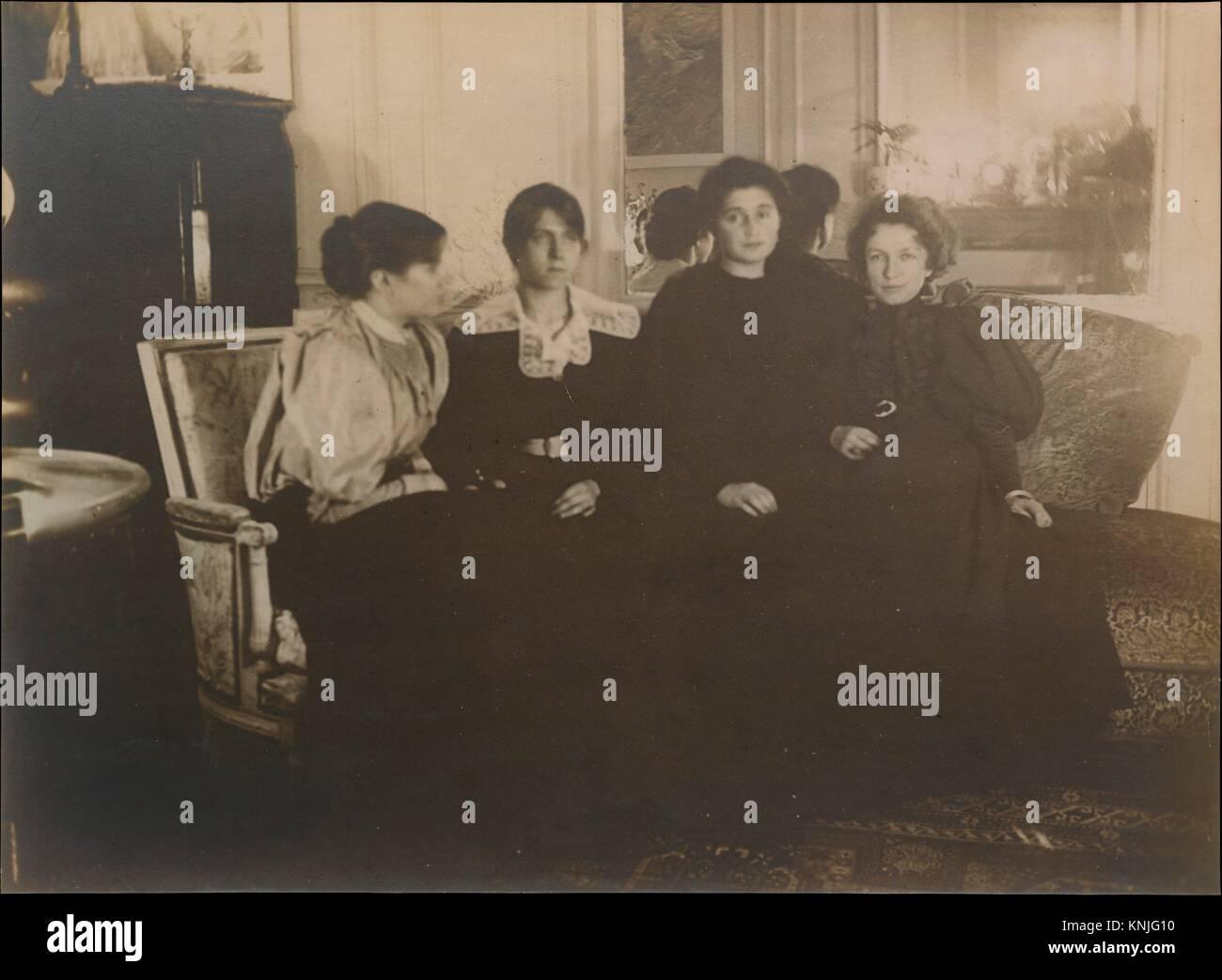 Paule Gobillard Gobillard, Jeannie, Julie Manet, und Geneviève Mallarmé. Künstler: Edgar Degas (Französisch, Paris Stockfoto
