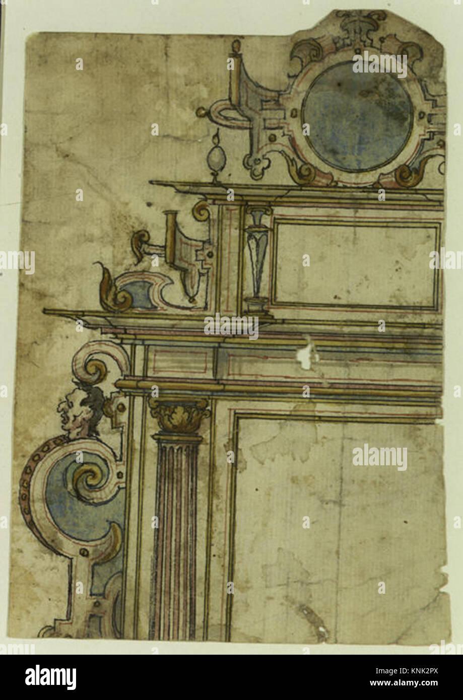 Fragment der architektonischen Rahmen MET DR 446 383347 Künstler ...
