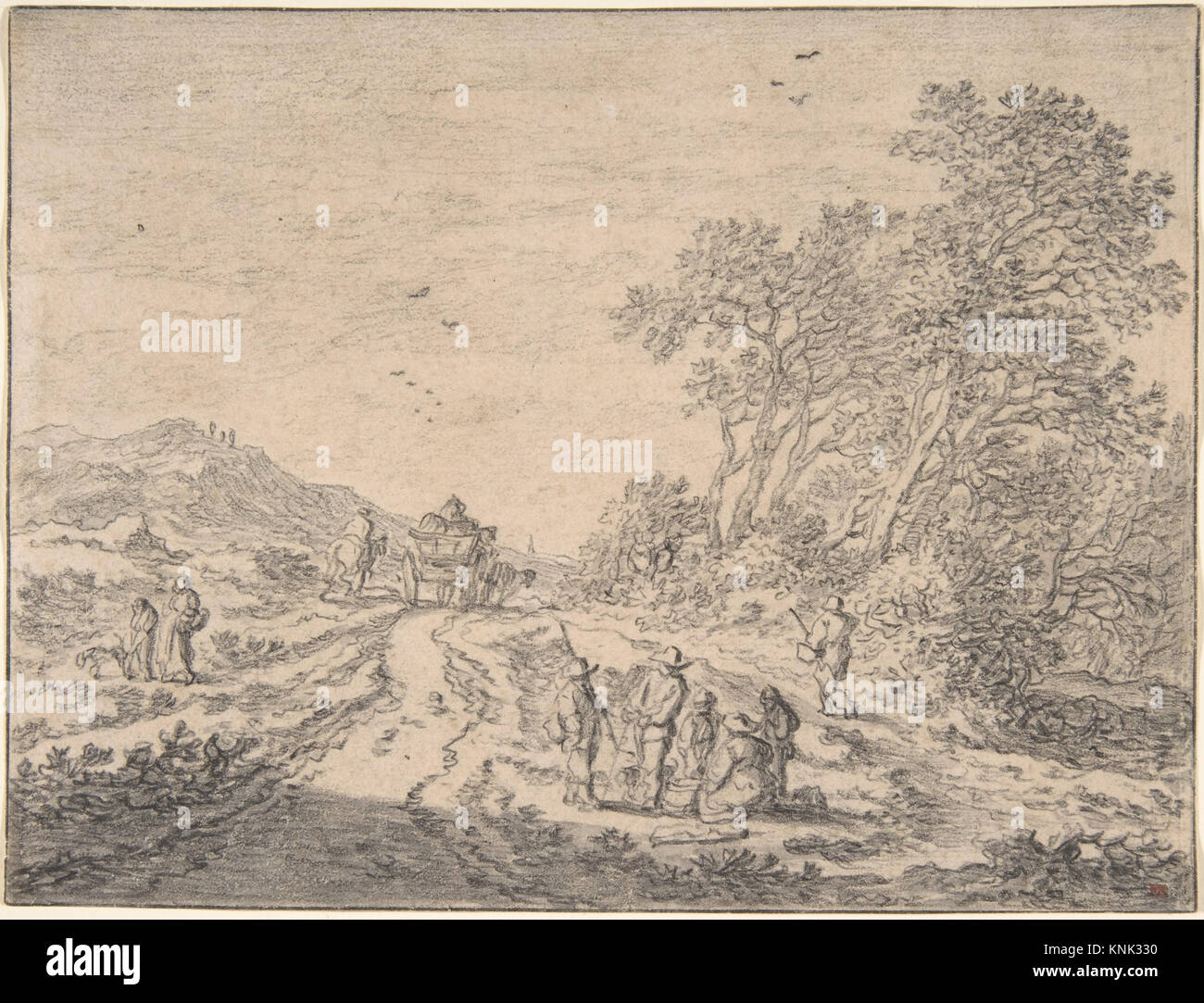Zahlen auf einer Straße MET DP 800498 381628 Künstler: Pieter de Molijn, Niederländisch, London 1595? Stockbild