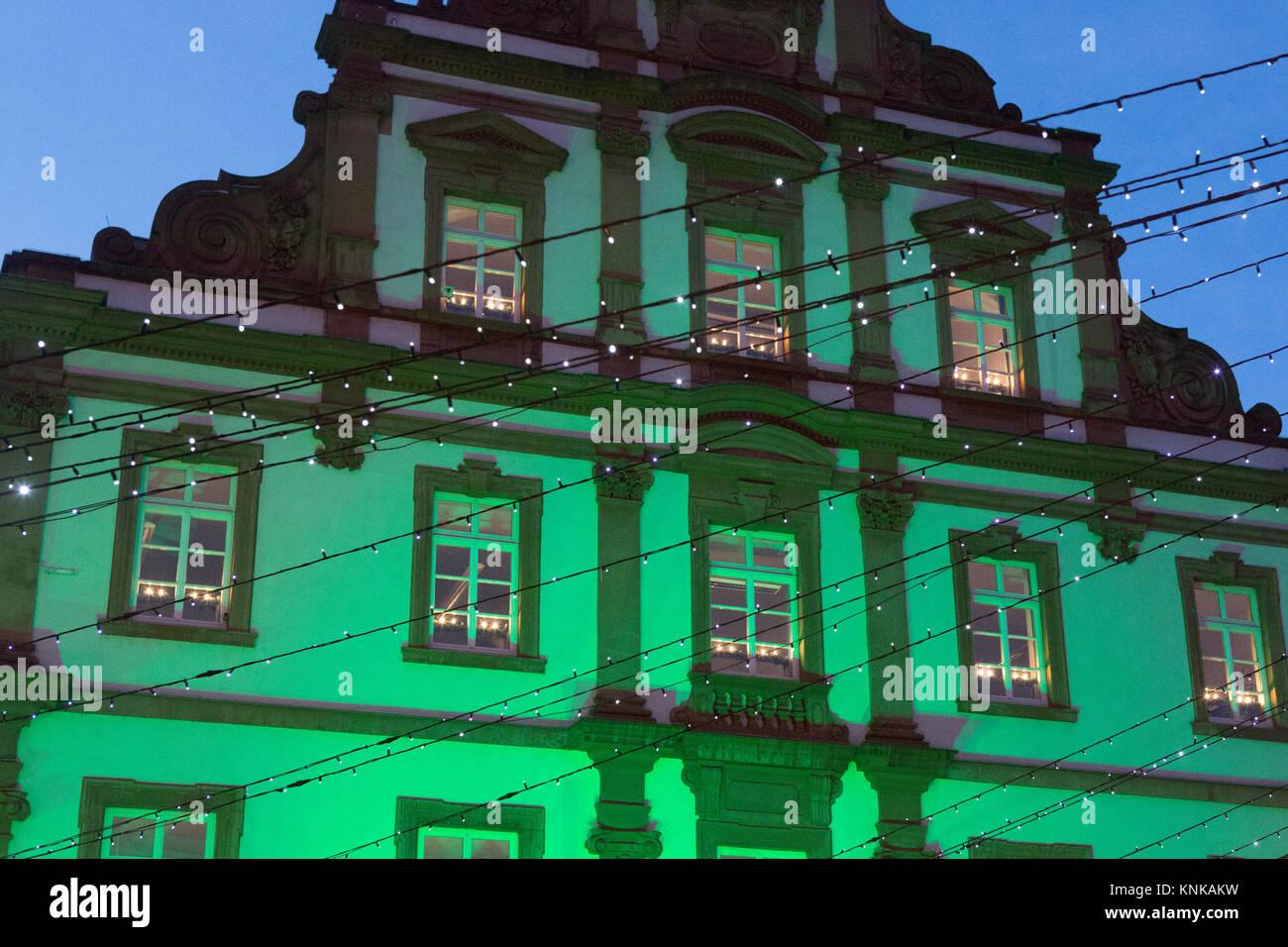 Der Alten Münze Alte Münze Gebäude Grün Leuchtet Der