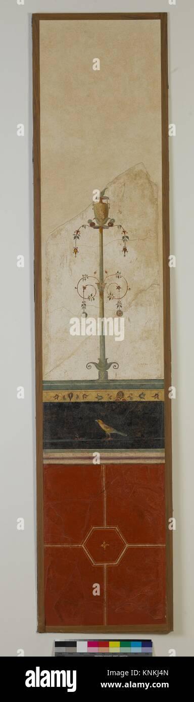 Wandmalerei auf weißem Grund: Armleuchter, von der kaiserlichen Villa at Boscotrecase. Zeitraum: frühen Stockbild