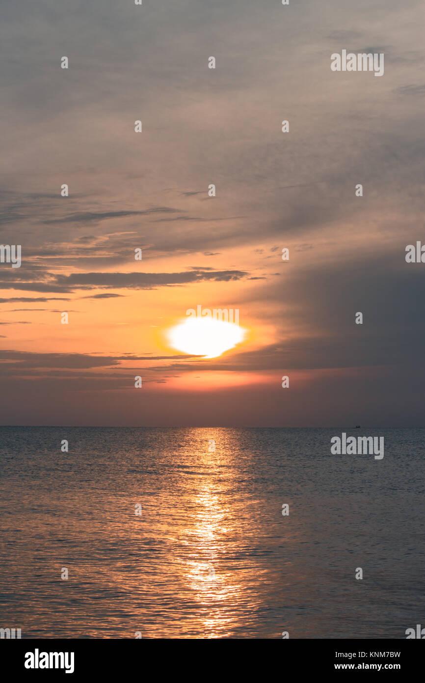 Guten Morgen Sonnenaufgang Landschaft Aus Meer Thailand