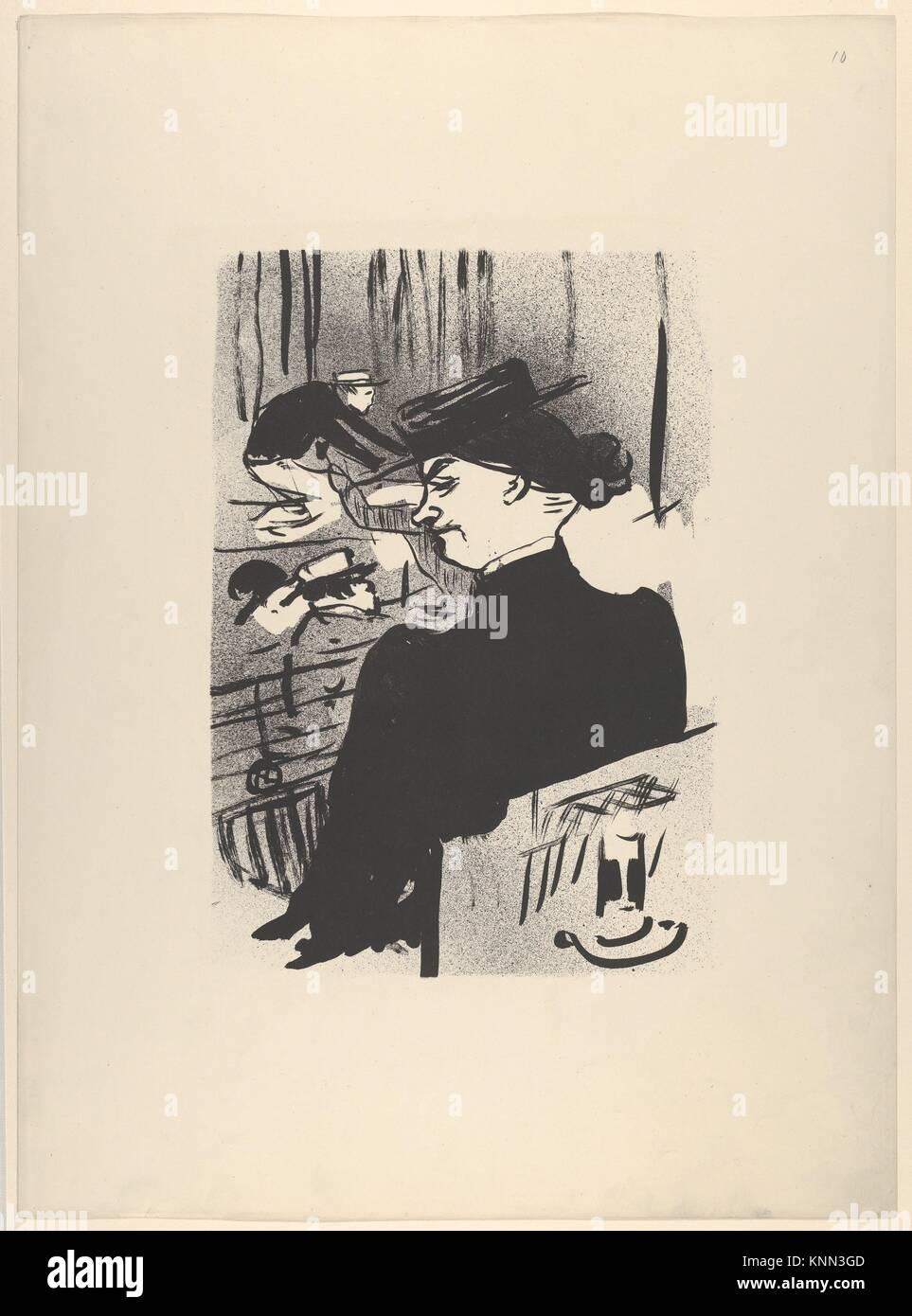 Ein Zuschauer (von Le Café Konzert). Serie/Portfolio: Le Café Konzert; Suite von elf Lithographien; Künstler: Stockbild