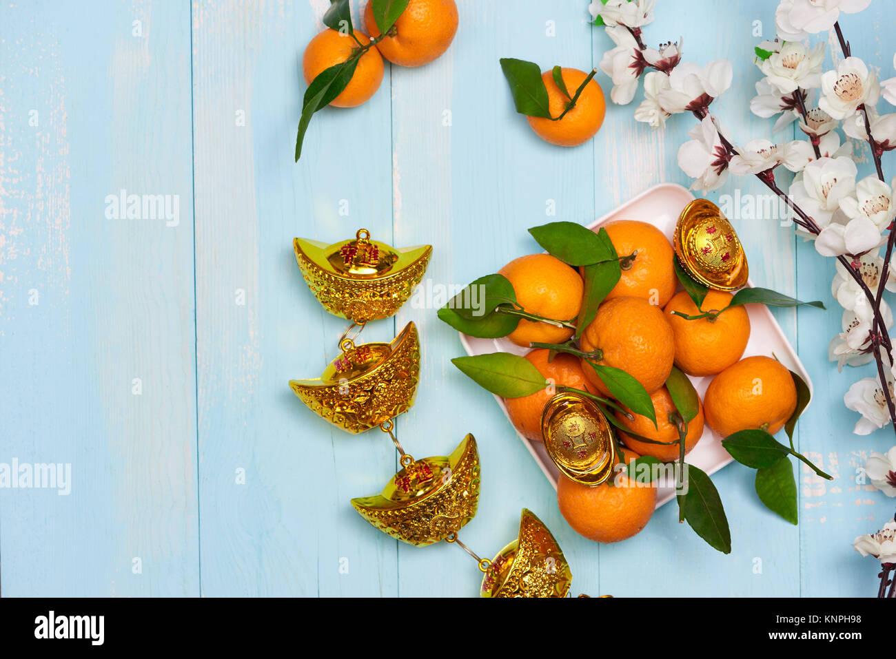 Flach Chinesisches Neues Jahr neues Jahr Tabelle Top Shot ...