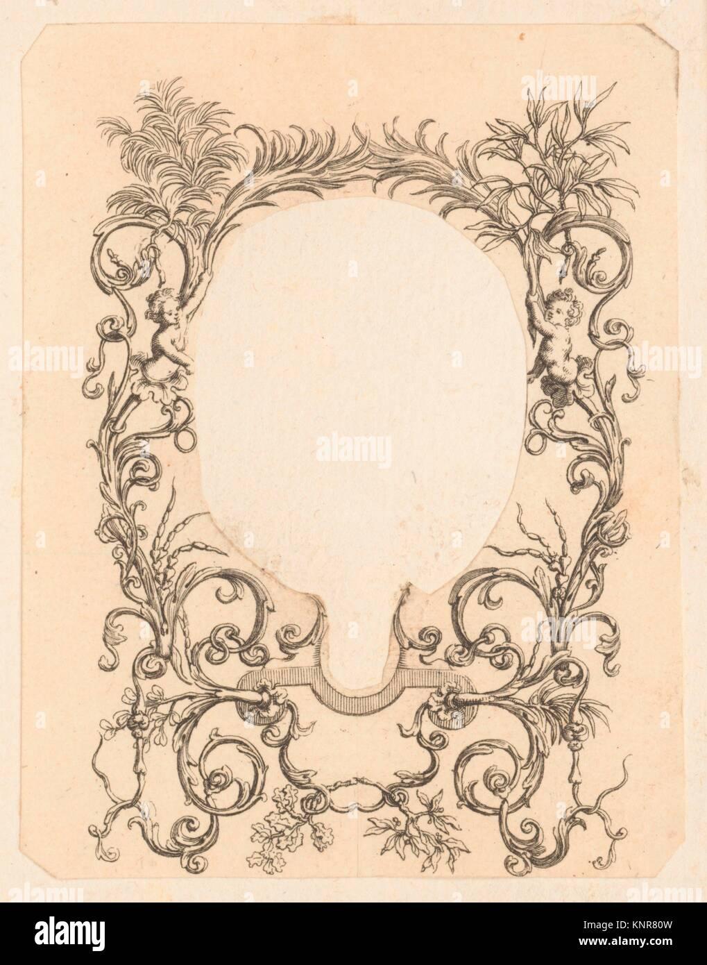 Dekorative Rahmen mit Girlanden. Künstler: Anonym, 18. Jahrhundert ...