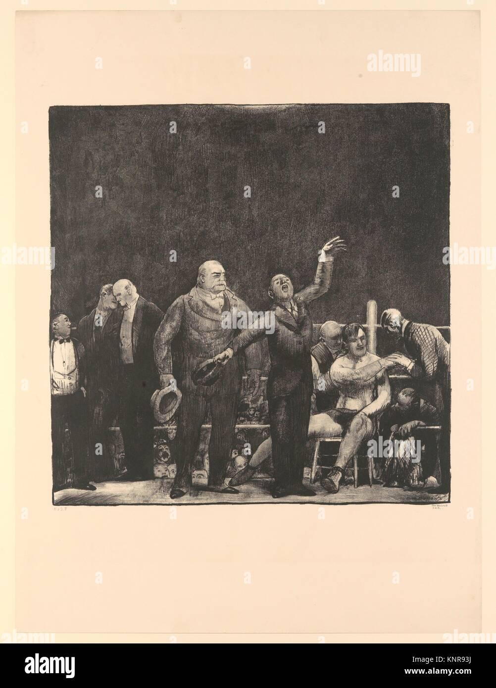 Die Einführung von John L. Sullivan. Artist: George Bellows (Amerikanische, Columbus, Ohio 1882-1925 New York); Stockbild