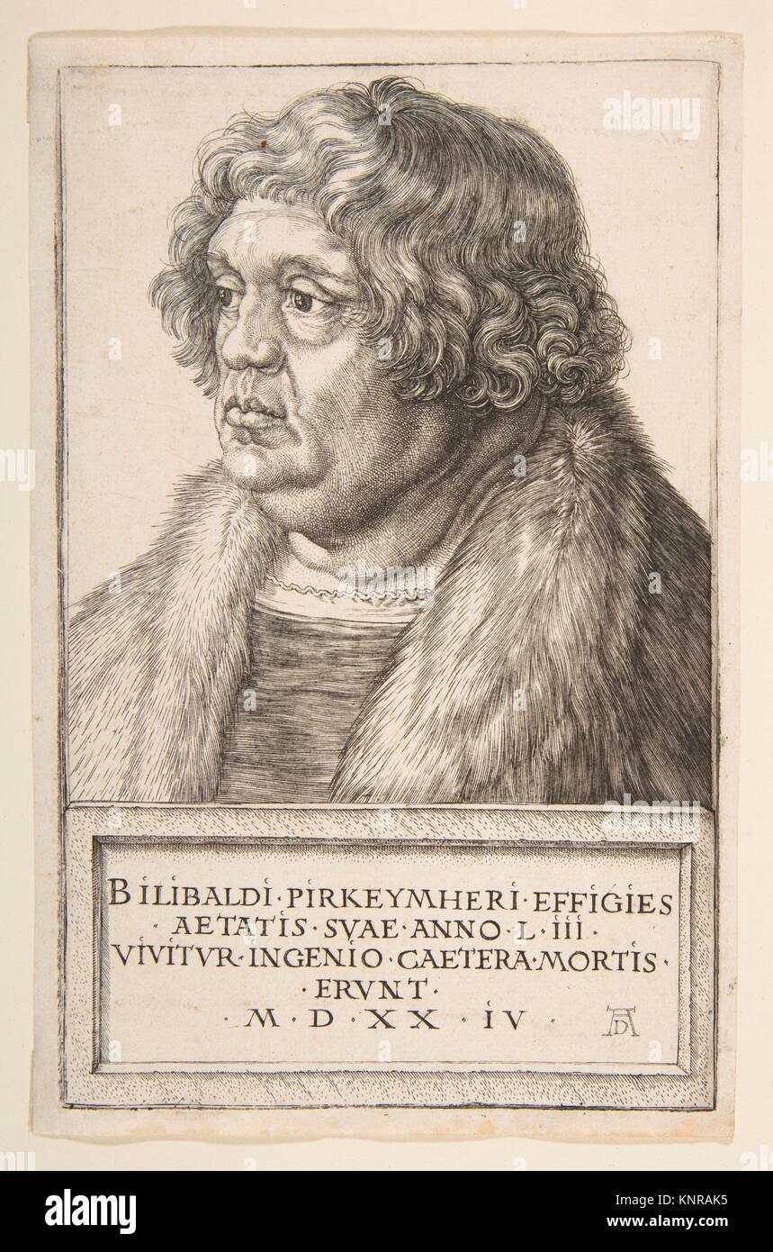 Willibald Pirckheimer. Künstler: Albrecht Dürer (Deutsch, Nürnberg 1471-1528 Nürnberg); Sitter: Stockbild