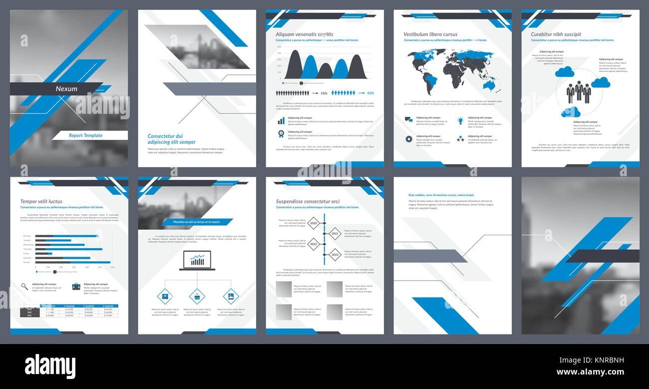 Elemente von Infografiken für die Berichtvorlage und Präsentationen ...