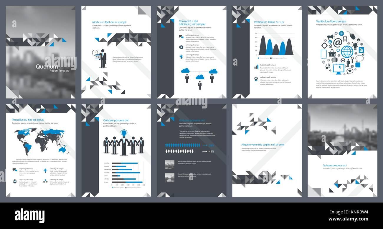 Elemente von Infografiken für die Berichtvorlage und ...