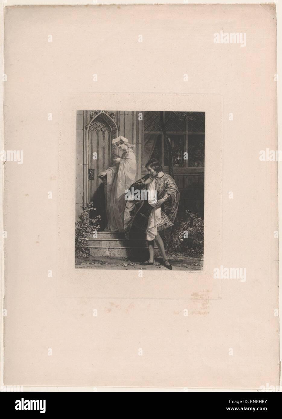 Anne Seite und Schlank (Shakespeares Lustigen Weiber von Windsor, Akt 1, Szene 1). Artist: Samuel William Reynolds, Stockbild