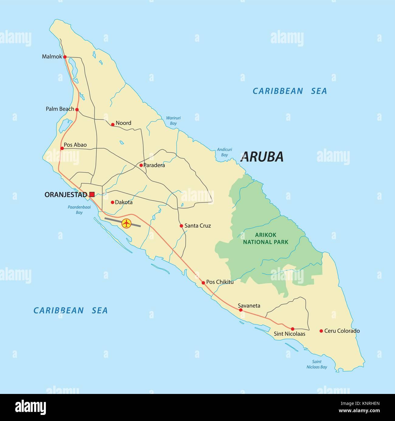 Map Aruba Stockfotos & Map Aruba Bilder - Alamy