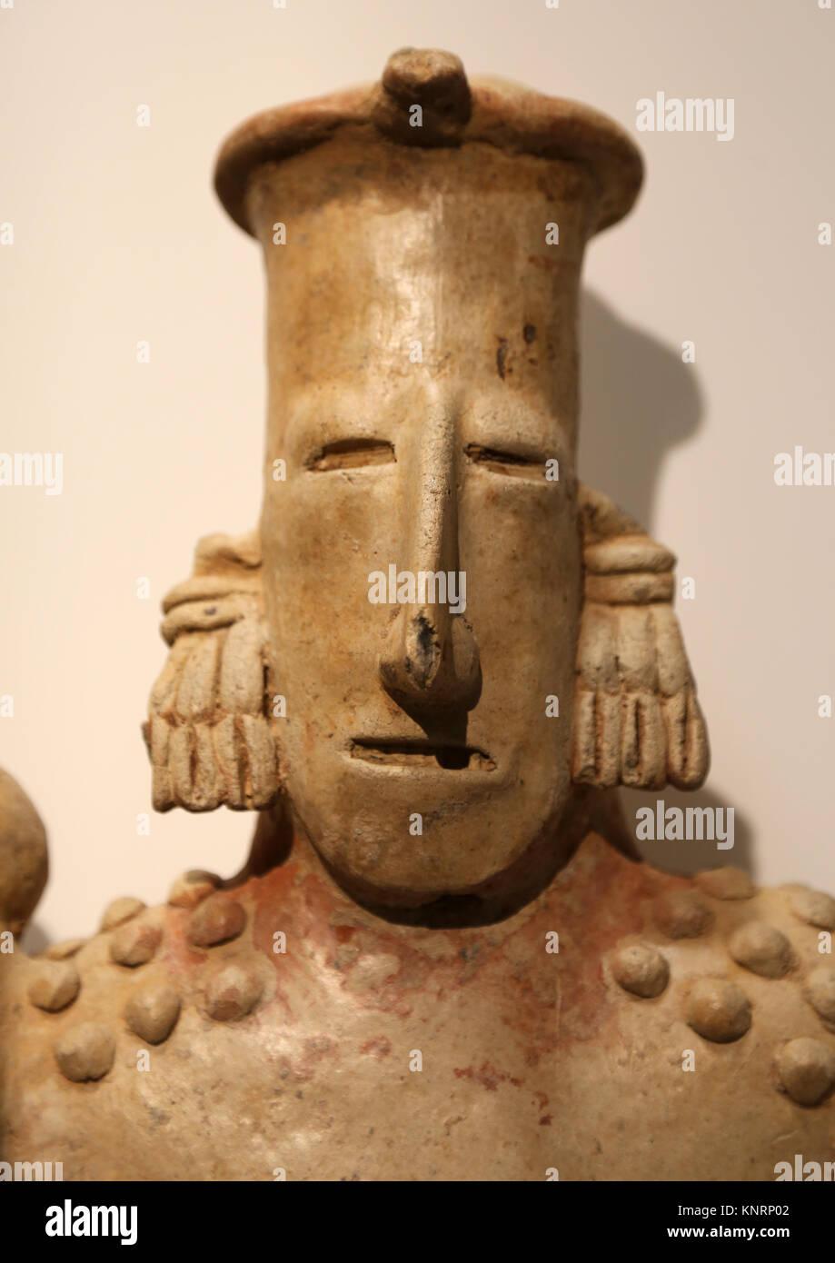 Mesoamerika. Precolombian. Elite Abbildung. Jalisco-Mexico. 200 v. Chr.-400 N. Poterry. Museum der Cutures der Welt. Stockbild