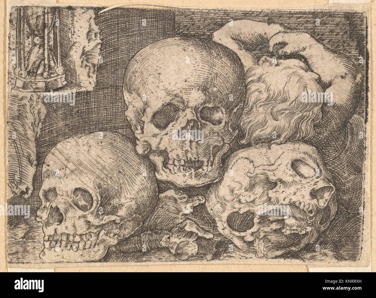 Kind mit drei Schädel (rückwärts kopieren). Artist: Barthel Beham ...