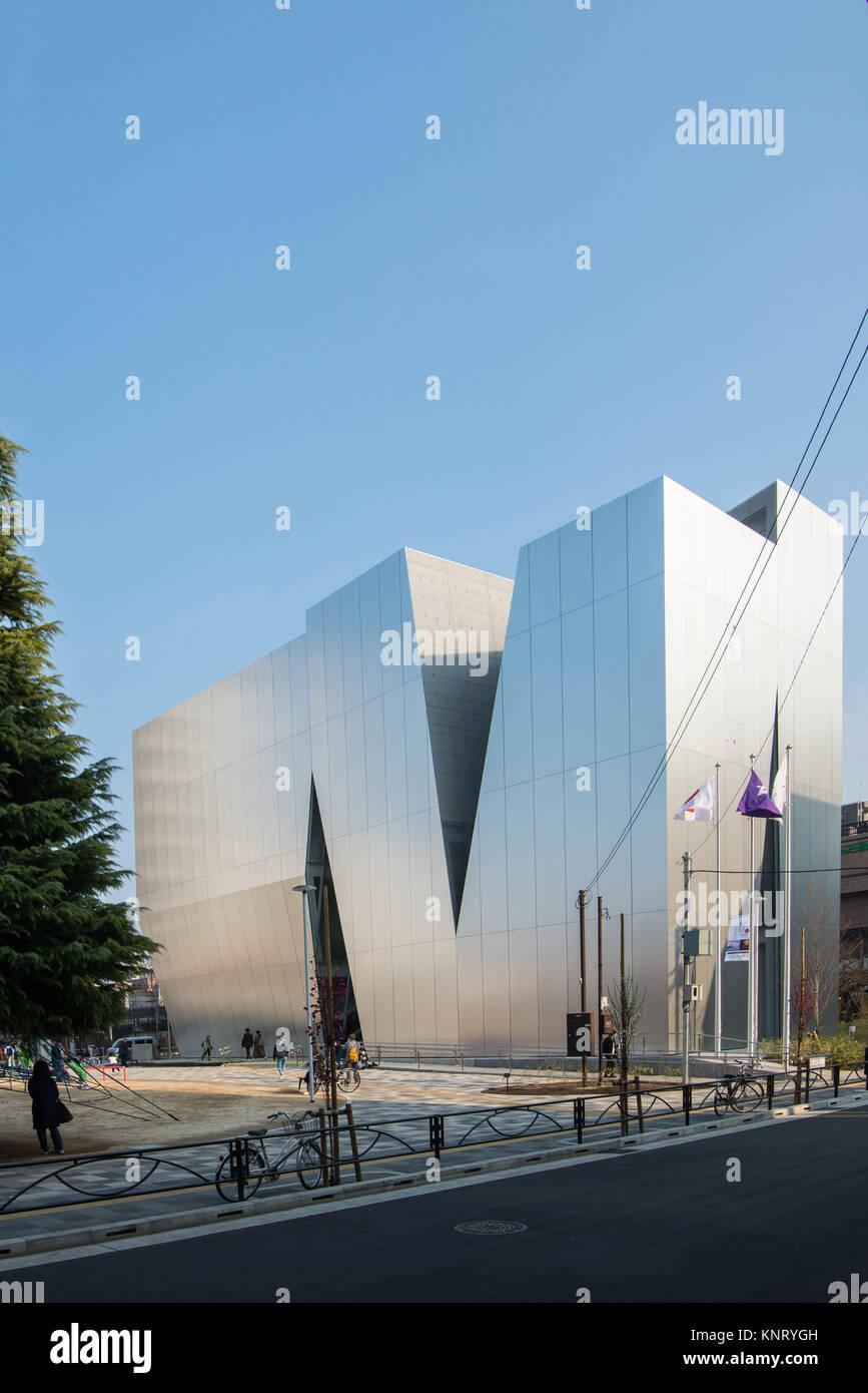 Japan, Tokio: Sumida Hokusai Museum, in der Nachbarschaft von Sumida, Tokio, die Hauptstadt Japans. Das Museum ist Stockbild