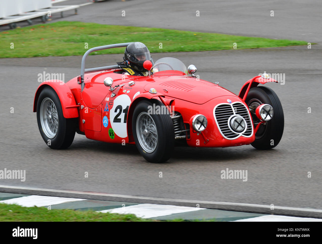 Christian Dumolin, Maserati A6GCS, Goodwood Revival 2013, madgwick Schale Stockbild