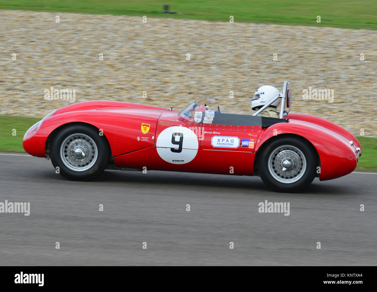 George Ebney, Lester-MG, madgwick Schale, Goodwood Revival 2013 Stockbild