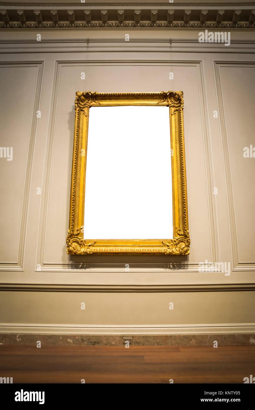 Reich verzierten Bilderrahmen Art Gallery Museum Ausstellung Innen ...