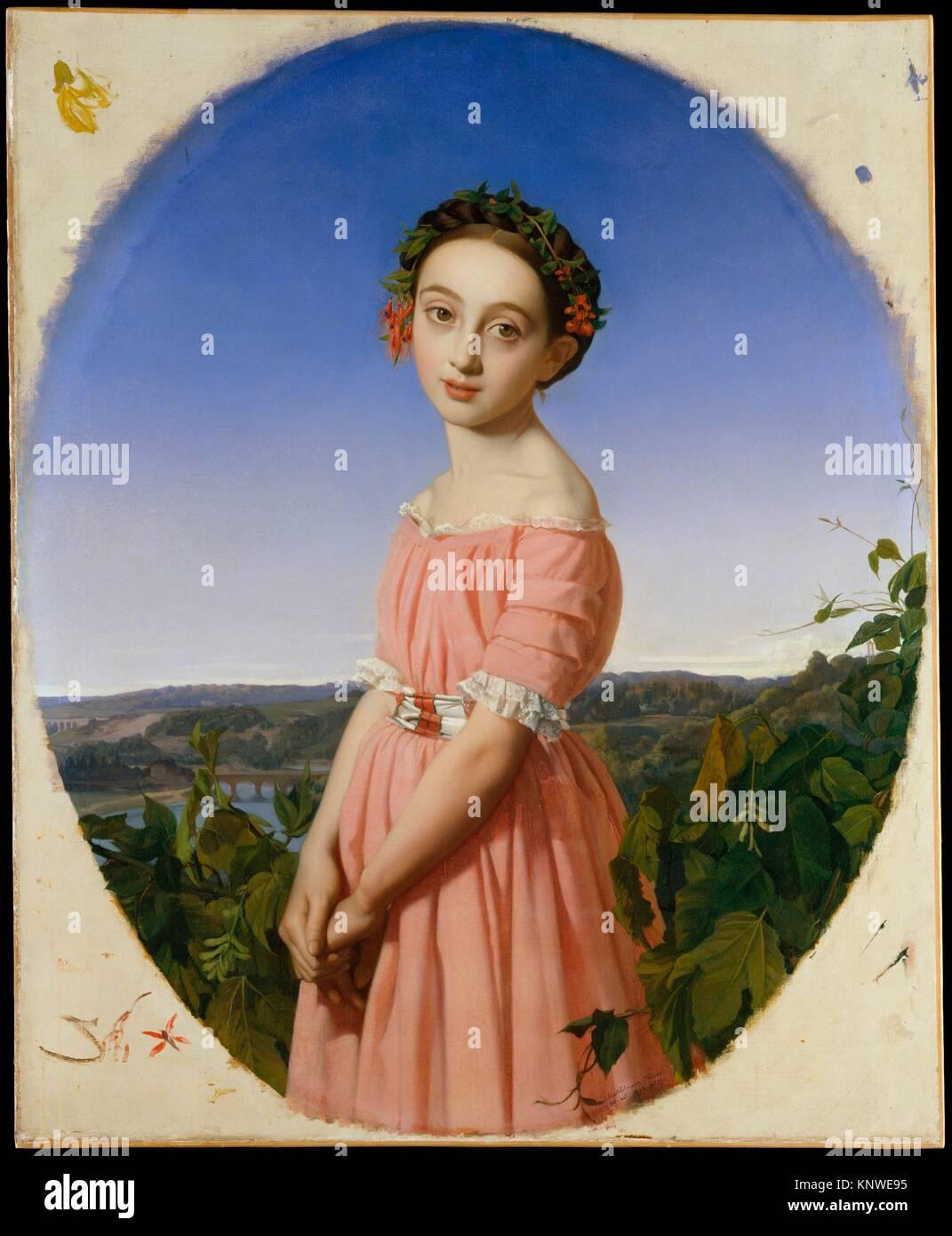 Faustino Léo (1832-1865). Künstler: Henri Lehmann (Französisch, Kiel 1814-1882 Paris); Datum: 1842; Medium: Öl auf Leinwand; Maße: 39 3/8 x 32 in. (100 x Stockfoto