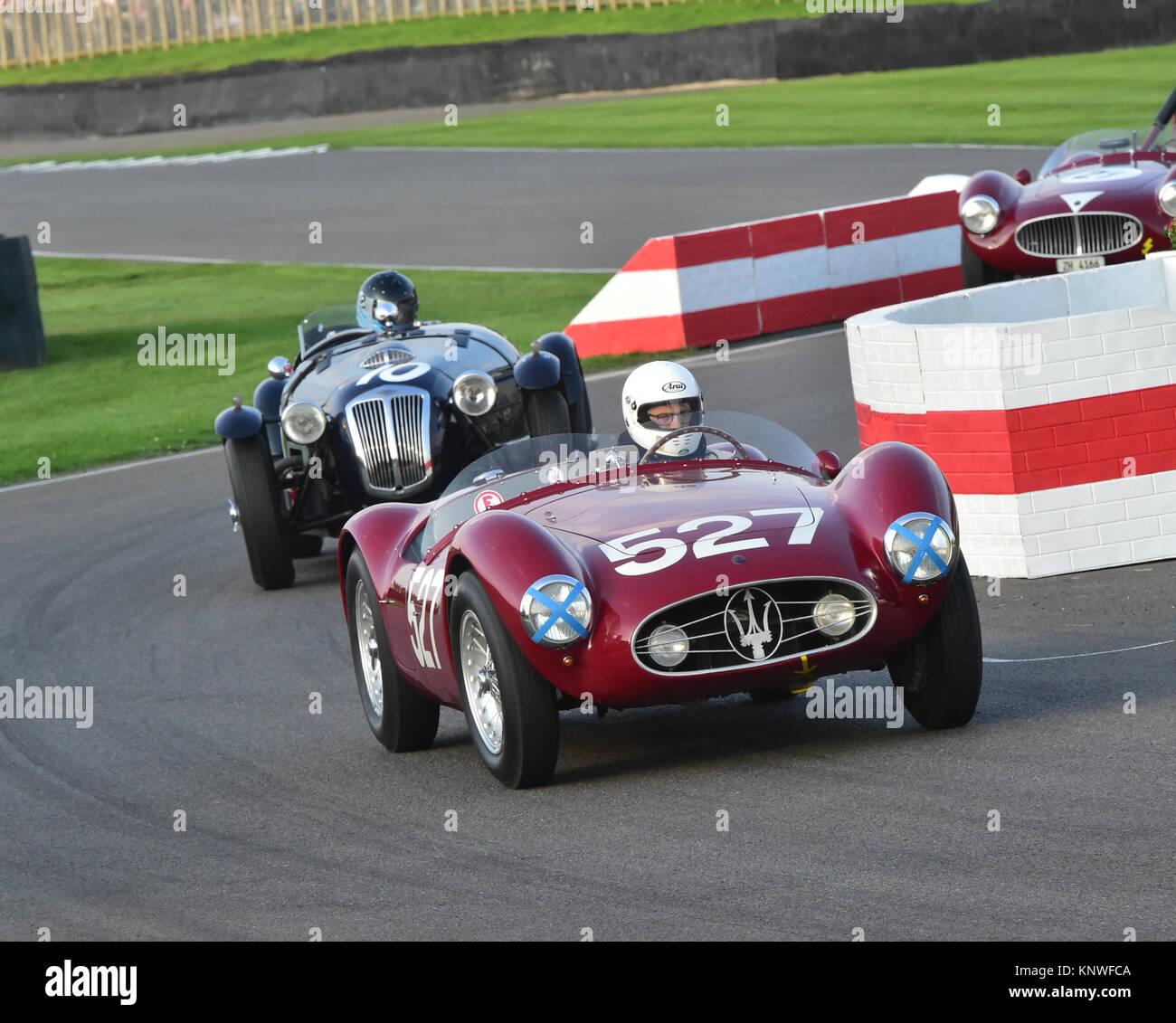 Martin Sucari, Maserati A6GCS, Freddie März Memorial Trophy, Goodwood Revival 2014, Goodwood Revival 2014 Freitag, Stockbild