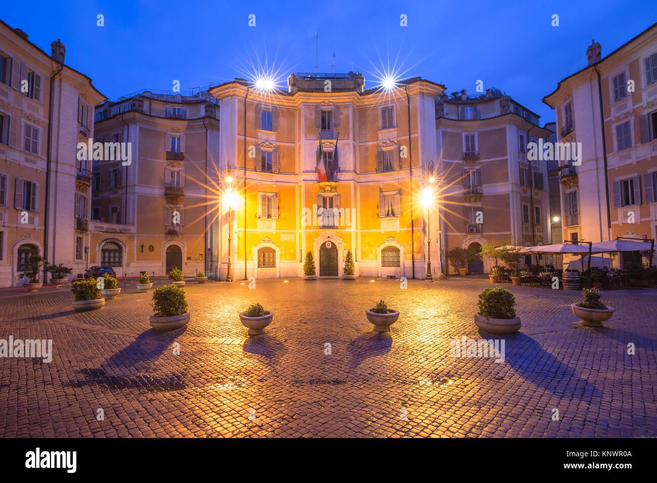 Platz Piazza Sant Ignazio in Rom, Italien. Stockbild