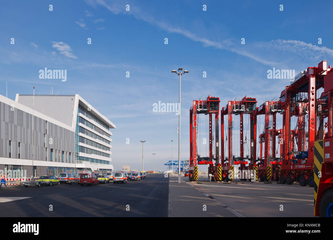 Terminal House, Wilhelmshaven, Niedersachsen, Jade Weser Port Stockbild