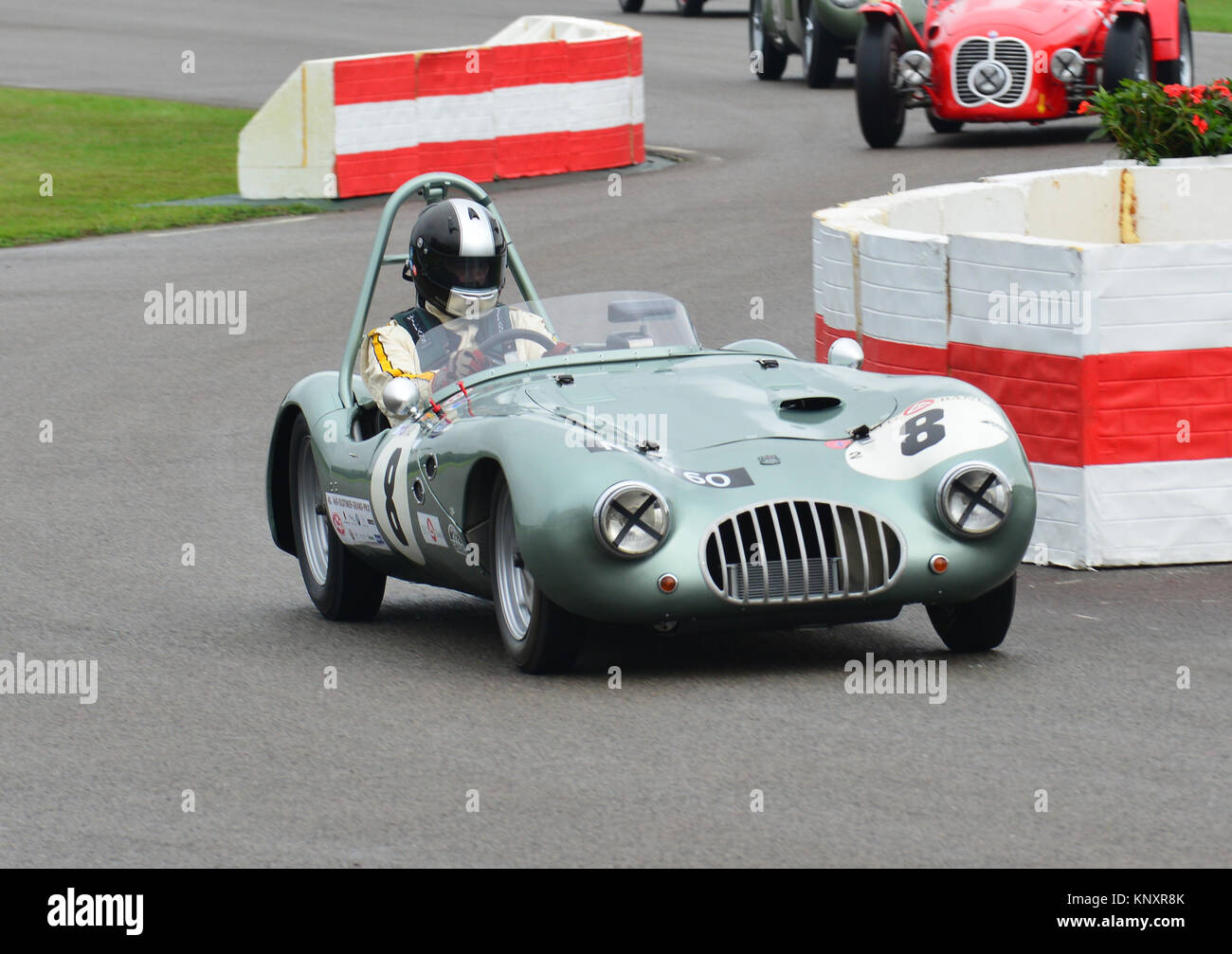 Rudolf Ernst, Kleft-Climax 1100, Goodwood Revival 2013, madgwick Cup. Stockbild