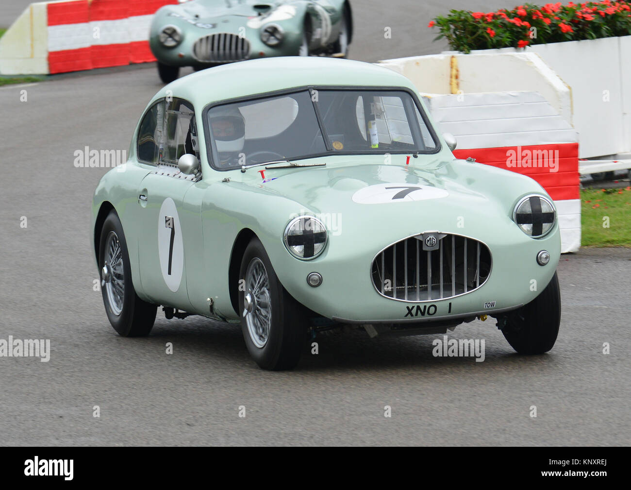 Stuart Dean, Jacobs MG Coupé, madgwick Cup. Goodwood Revival 2013 Stockbild