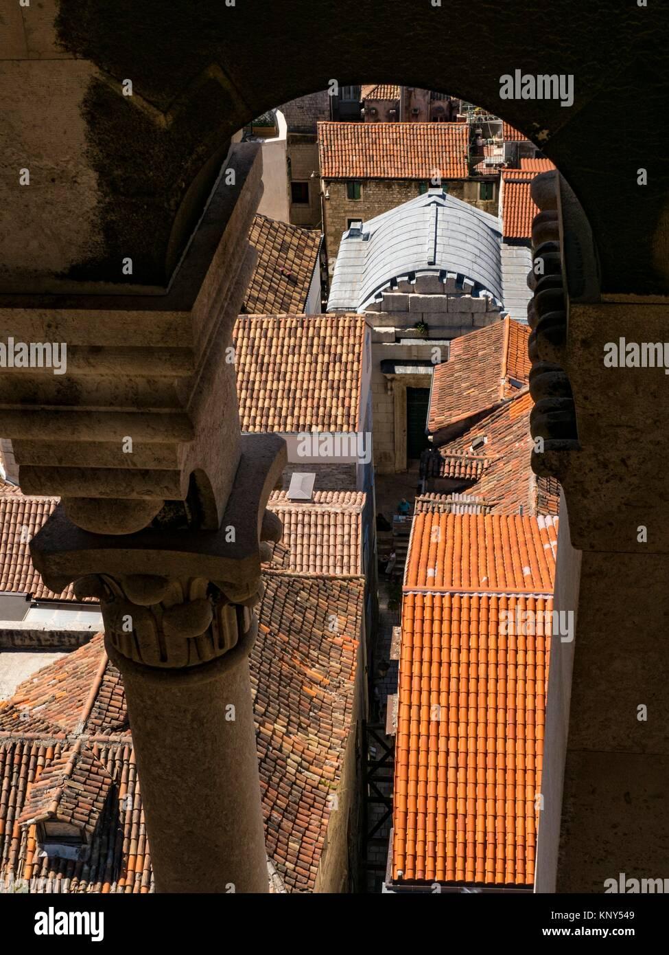Split Kroatien Glockenturm sehen. Stockbild