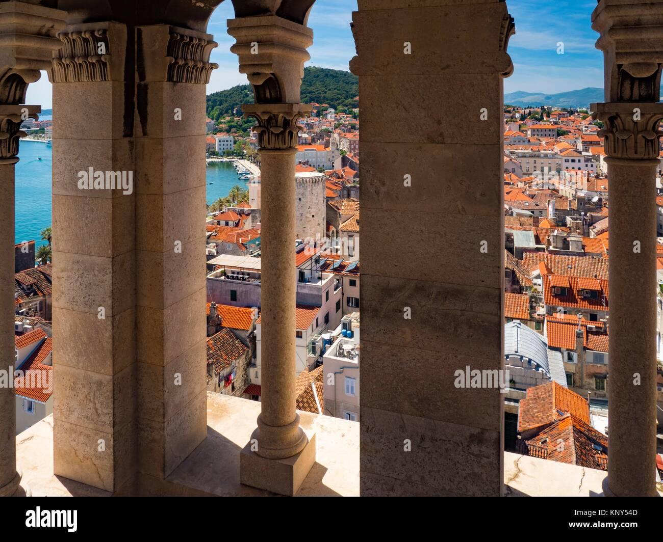 Split Kroatien Glockenturm sehen. Stockfoto