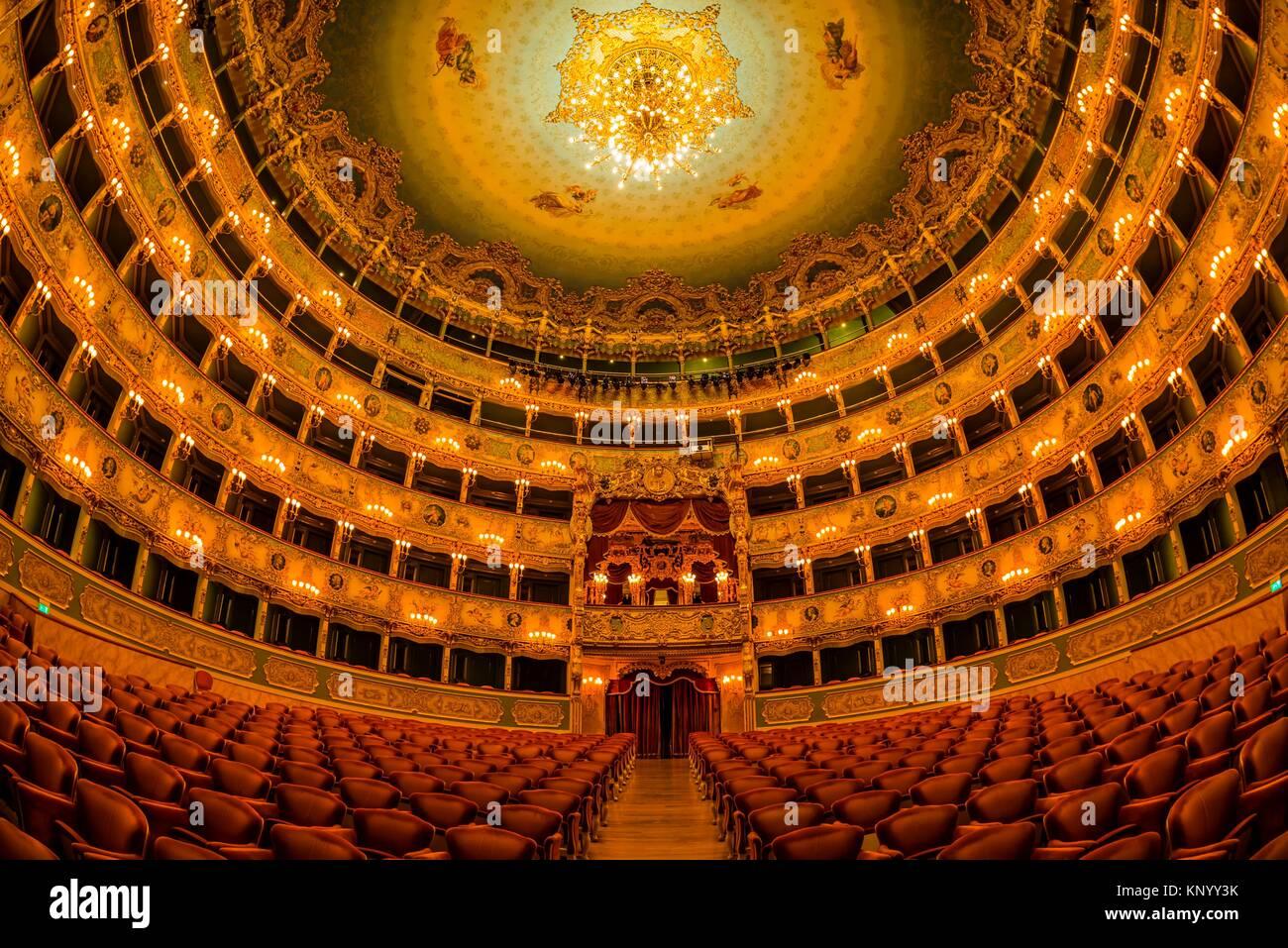 Teatro La Fenice (Theater La Fenice) Oper, Venedig, Italien. Stockbild