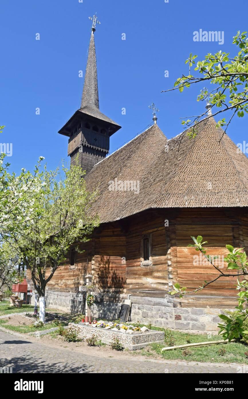 Die hölzerne Kirche von Michael der Tapfere in Alba Iulia, Rumänien. Stockbild
